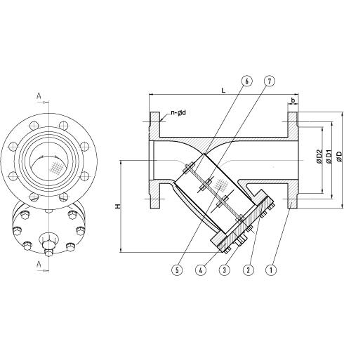 Фильтры магнитно-механические тип 021Y с магнитной вставкой схема