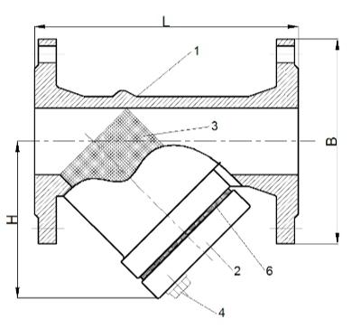 Фильтры чугунные сетчатые ЛАЗ ФМУ схема